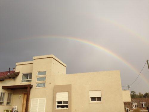 rainbow before storm