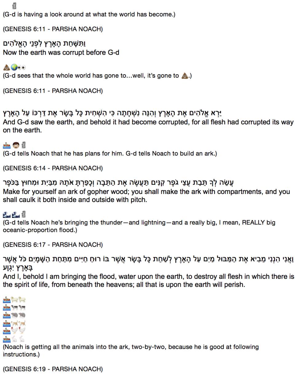4 Emoji D'var Torah 10:29:14 TRANSLITERATED 1