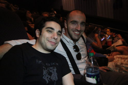 July 2012. Rick and I at the opening of The Dark Knight Rises.