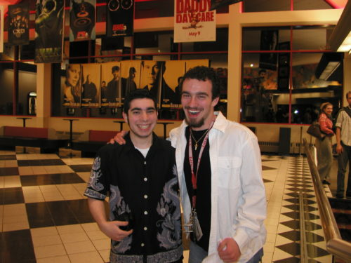 May 2003. Rick and I opening night of X2: X-Men United.