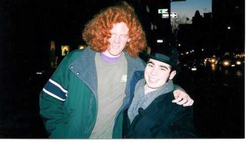 Early 2003. Rick and I pretend this guy is Carrot Top and take his picture.