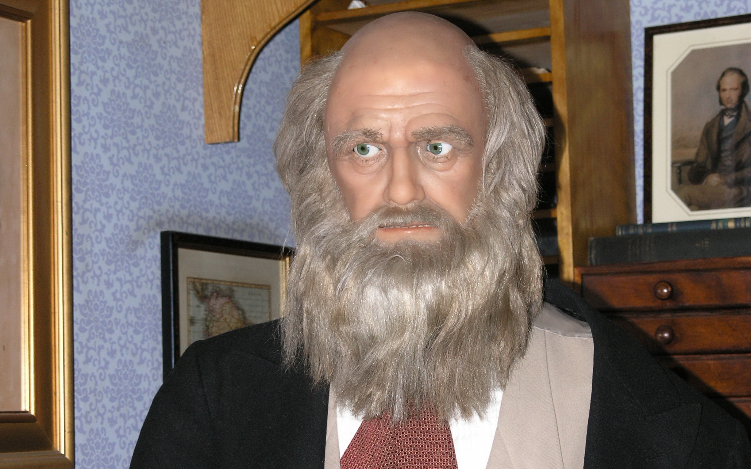 i believe in g0d because of a charles darwin robot i believe in g0d because the animatronic charles darwin robot taught evolution to an amish family
