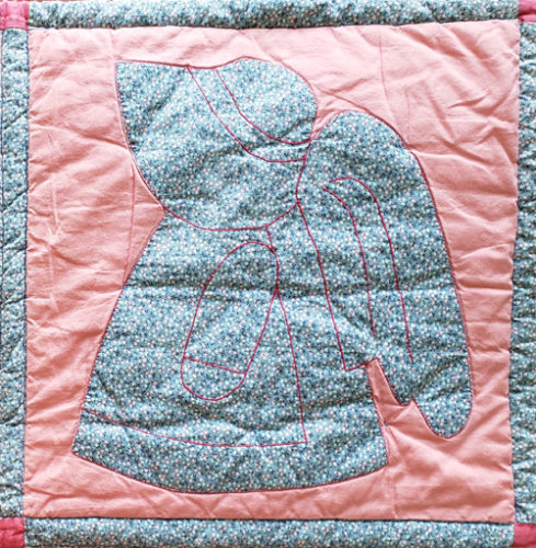 Sun Bonnet Angel Quilt Block