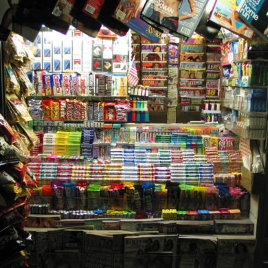 bodega at night